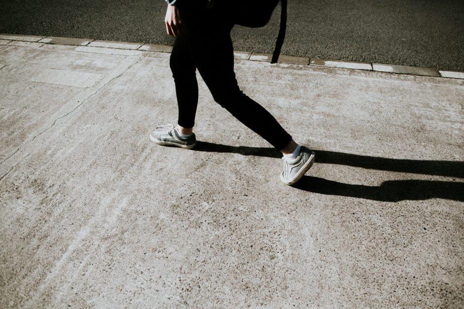 kim walking